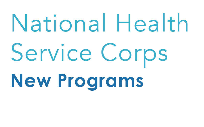 New National Health Service Corps programs for 2019-2020 Graphic