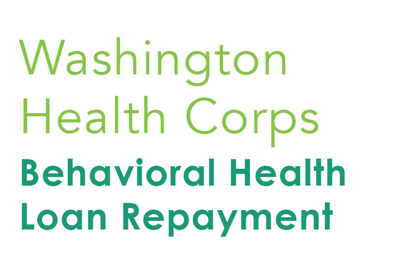 Washington State Behavioral Health Loan Repayment Program Graphic